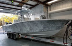 digital camo boat wrap